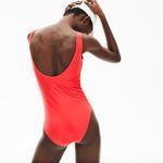 Lacoste купальник жіночий Recycled суцільний
