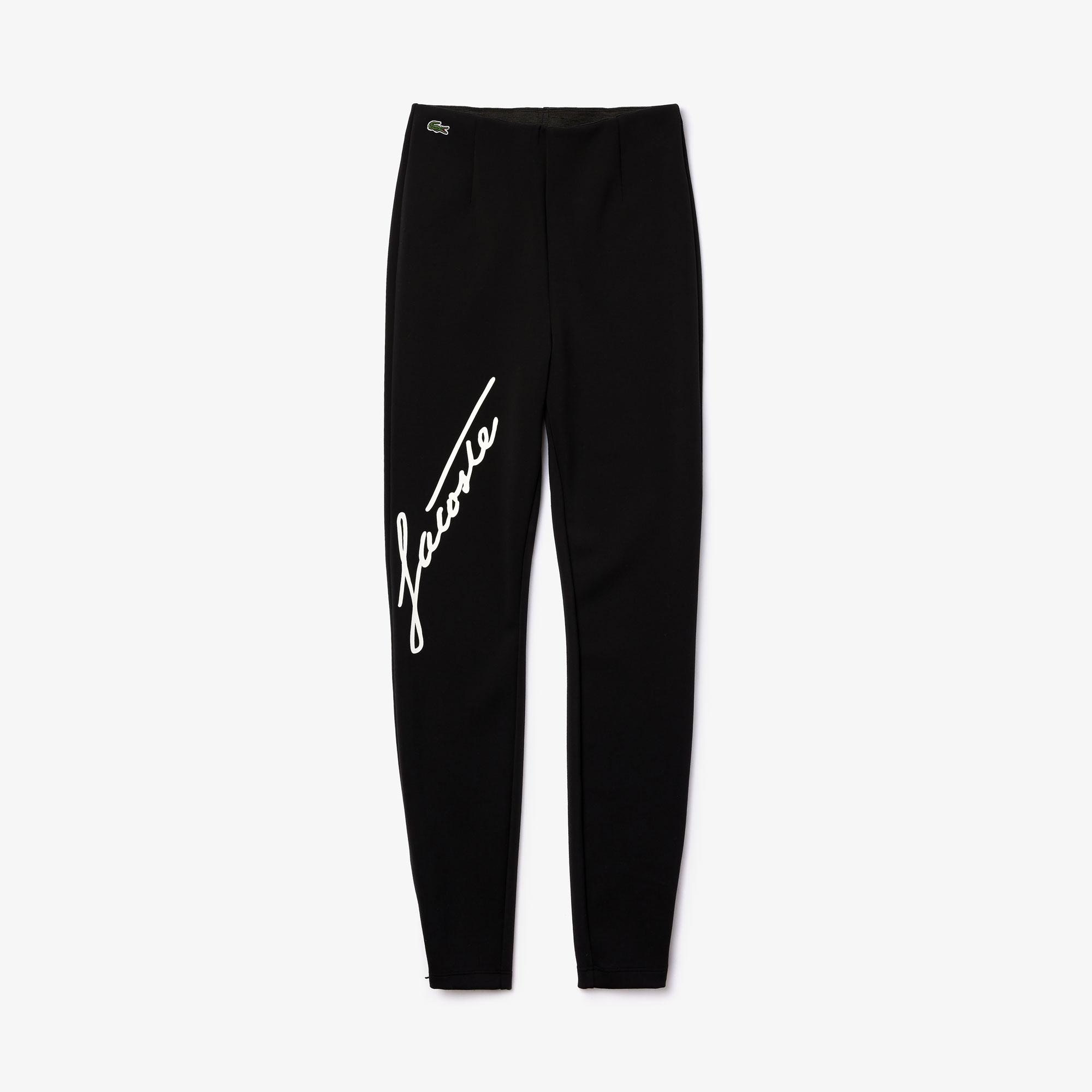 Lacoste Women's LIVE Contrast Signature High-Waisted Leggings