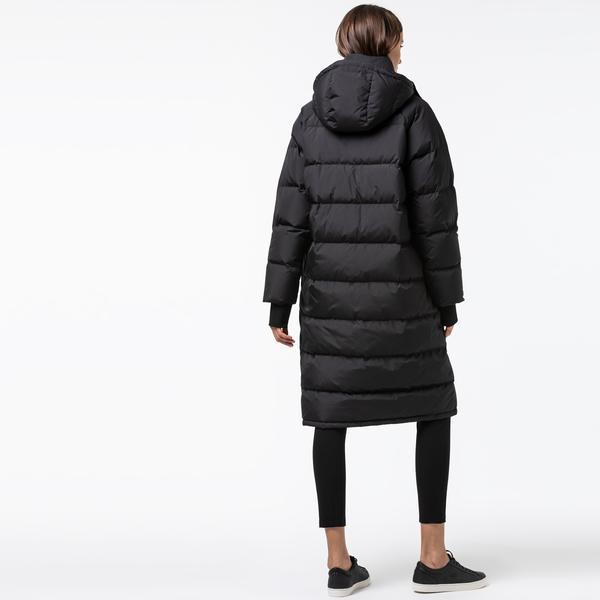 Lacoste L!VE Women's Long Water-Resistant Taffeta Down Jacket