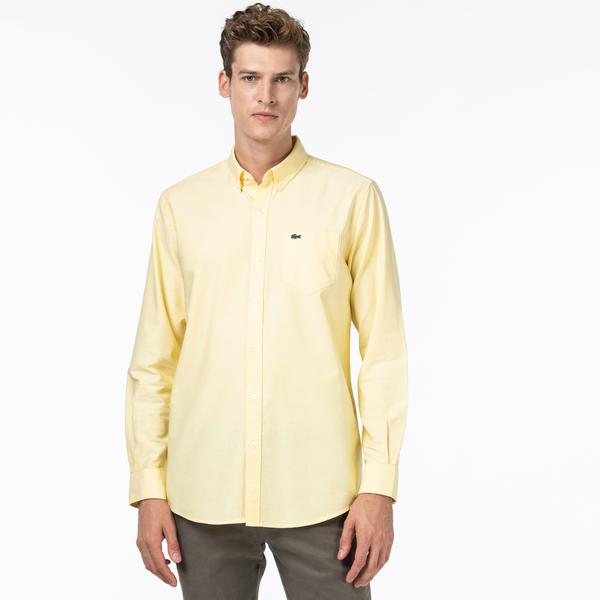 Lacoste Men's Regular Fit Oxford Cotton Shirt