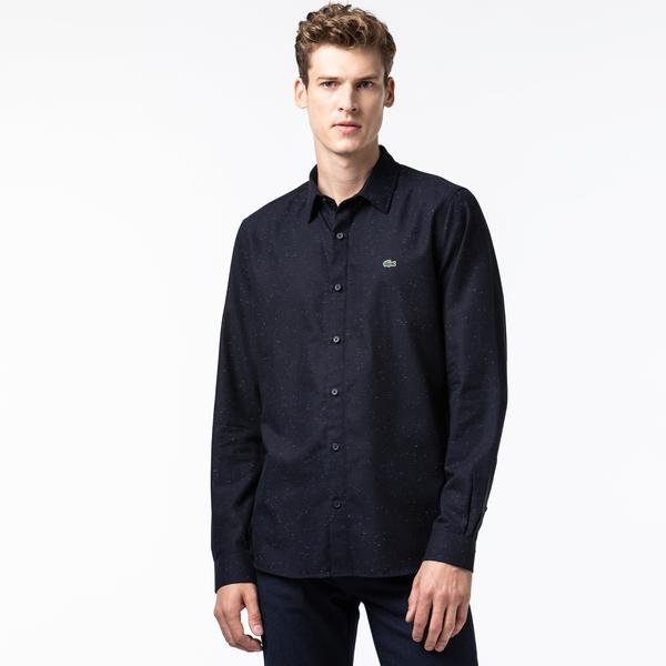 Lacoste Men's Slim Fit Flamed Cotton Shirt