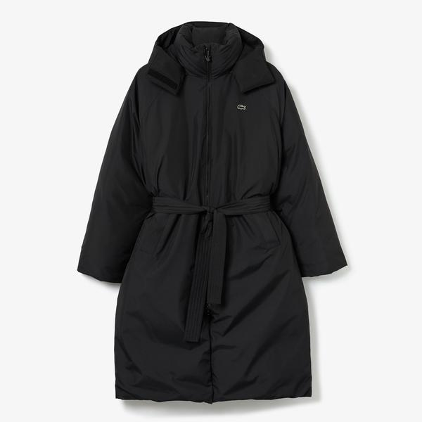 Lacoste Women's LIVE Oversized Water-Resistant Quilted Jacket