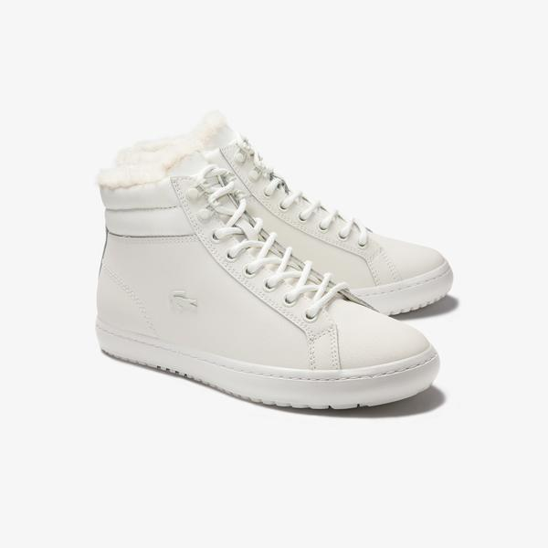 Lacoste Women's Straightset Thermo Leather Chukkas