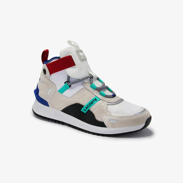 Lacoste Women's Run Breaker Suede and Textile Sneakers