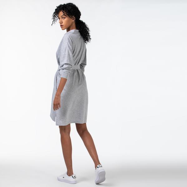 Lacoste Women's Straight Flowy Piqué Polo Dress
