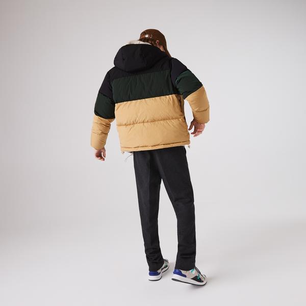 Lacoste Men's Short Lightweight Water-Resistant Puffer Coat