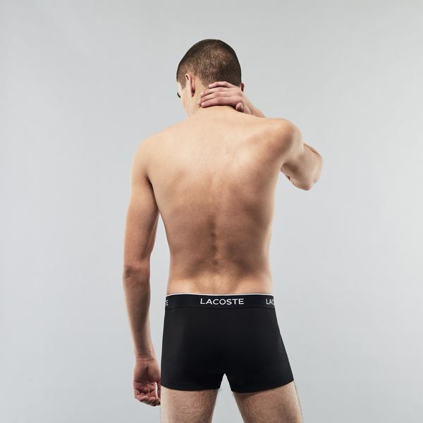 Lacoste Pack Of 3 Casual Black Trunks