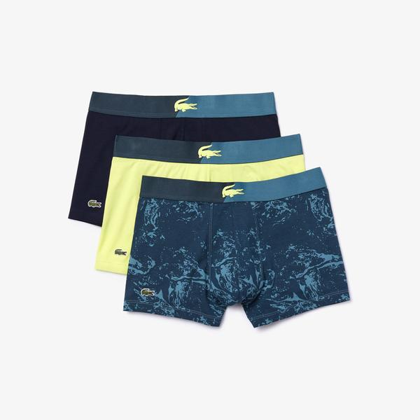 Lacoste Pack of 3 Casual Marble Effect Boxer Briefs
