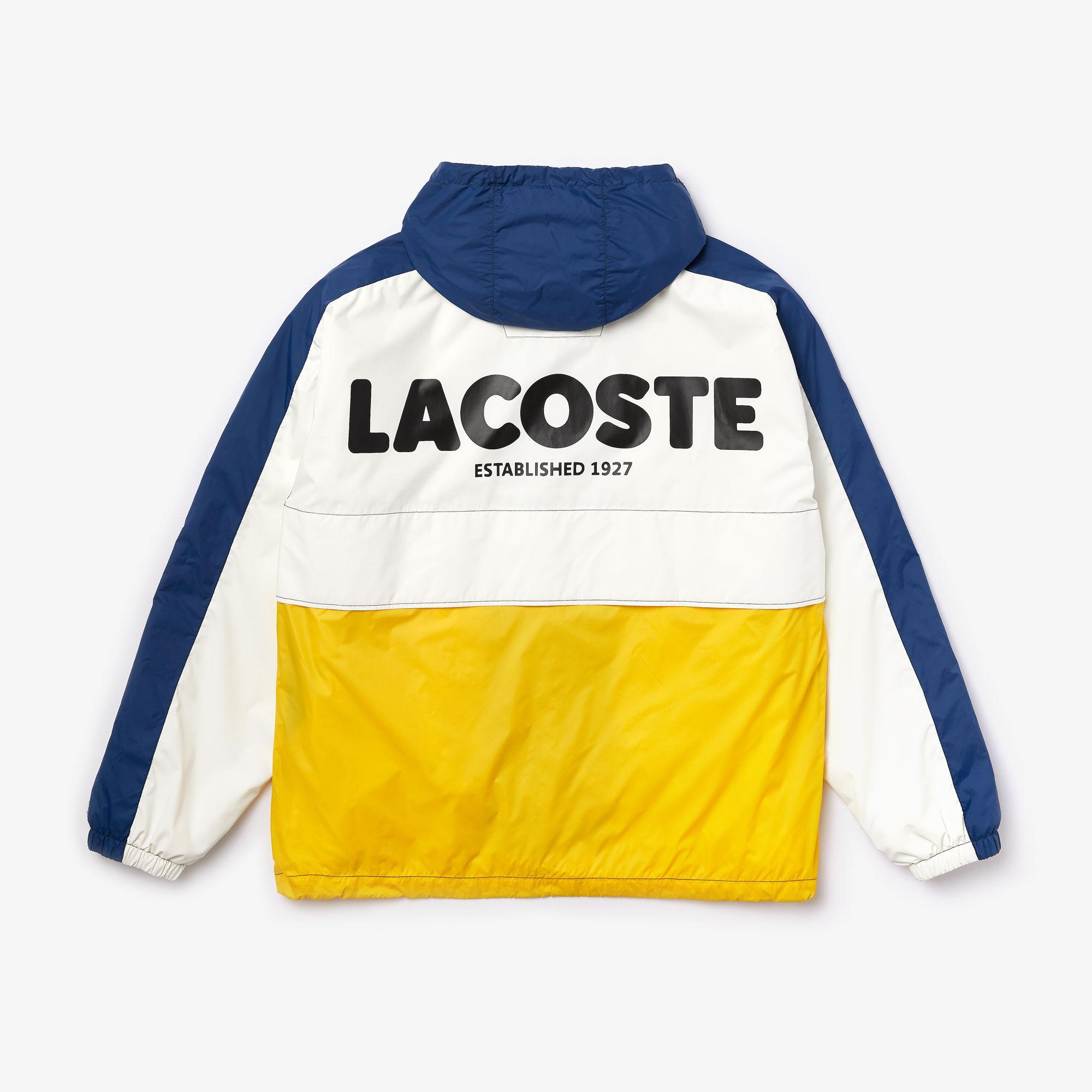 Lacoste Unisex LIVE Hooded Zippered Colorblock Windbreaker