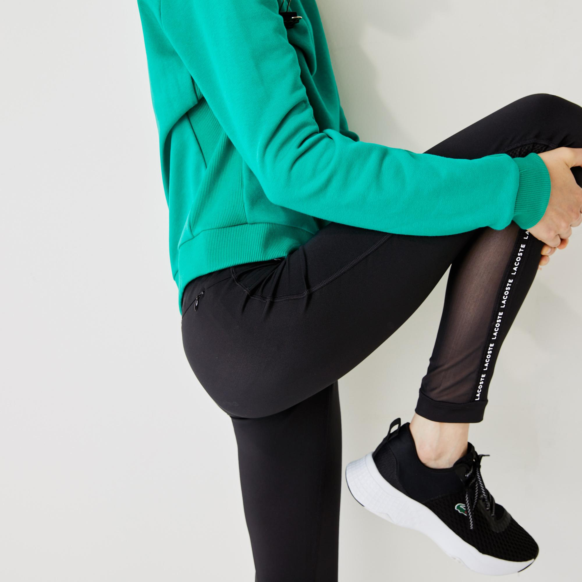 Lacoste Women's Sport Paneled Breathable Stretch Tennis Leggings