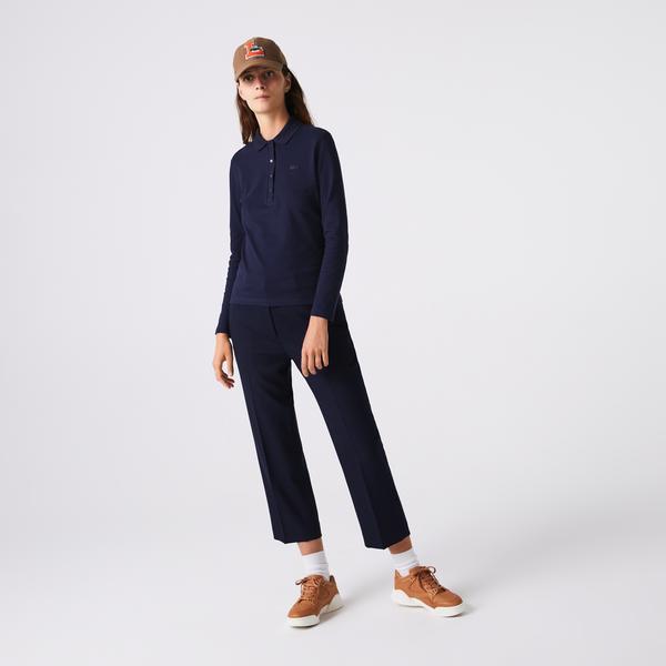 Lacoste Women's Slim Stretch Piqué Lacoste Polo Shirt