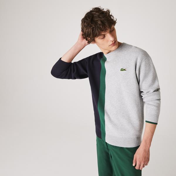 Lacoste светр чоловічий Colorblock з круглим вирізом