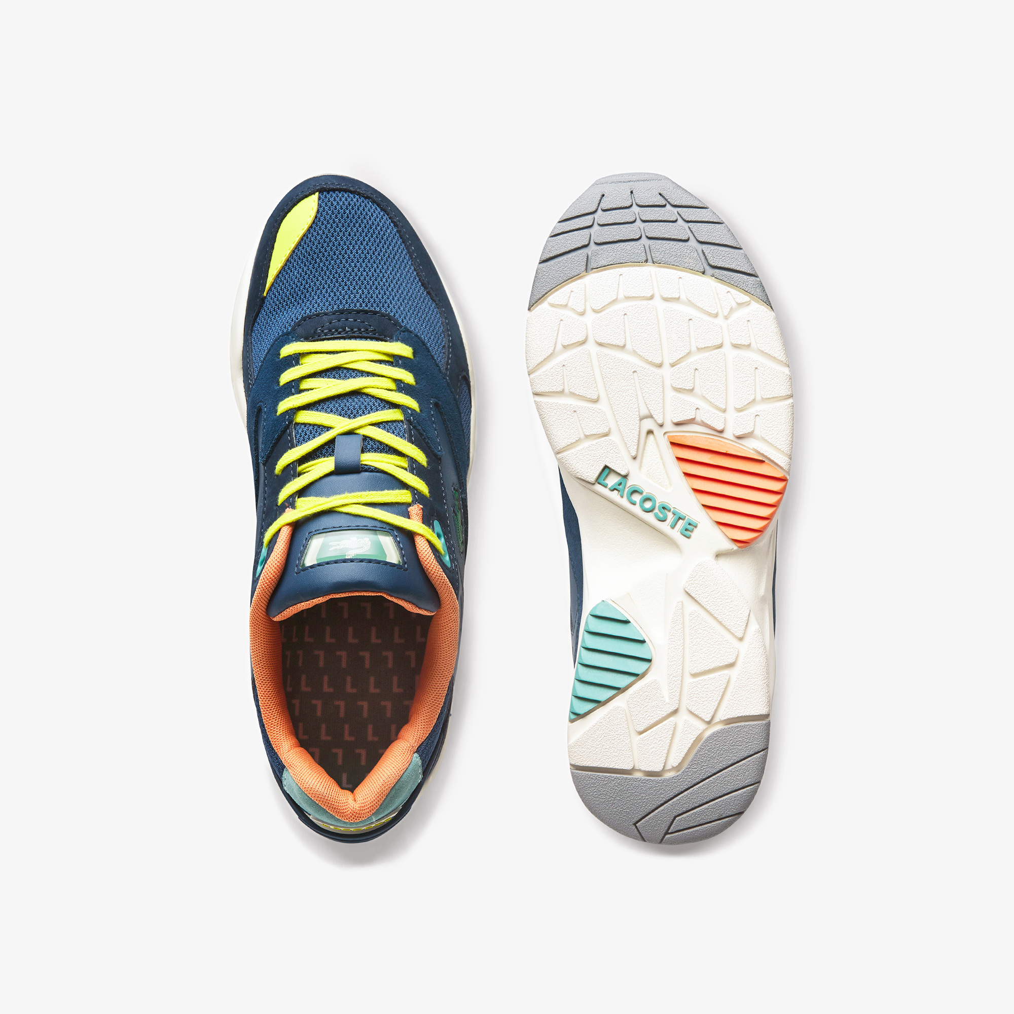 Lacoste Men's Storm 96 Textile, Synthetic and Leather Sneakers