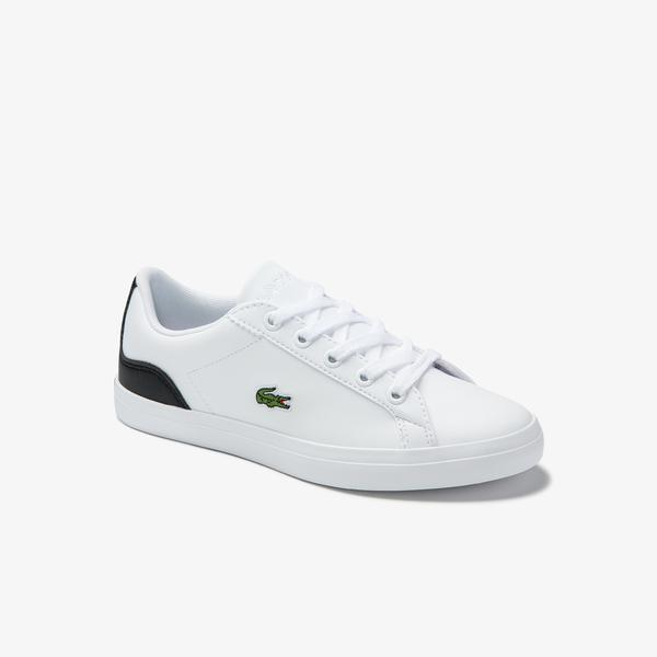 Lacoste Children's Lerond Synthetic Trainers