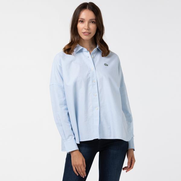 Lacoste Women's LIVE Loose Fit Oxford Cotton Shirt