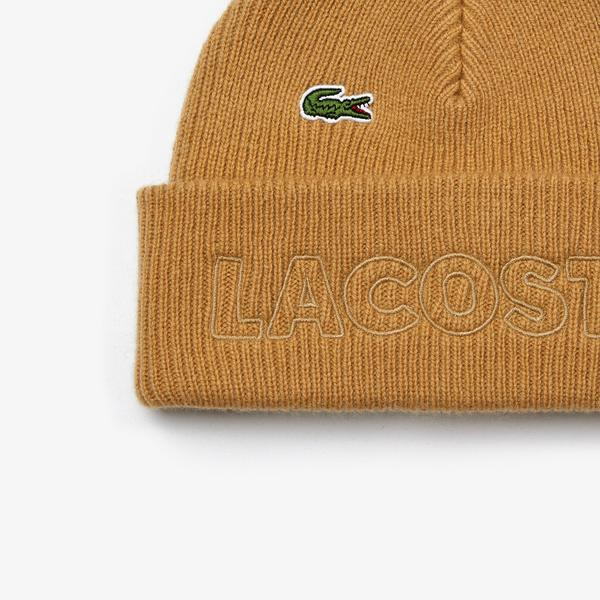 Lacoste Unisex LIVE Embroidered Wool Blend Beanie
