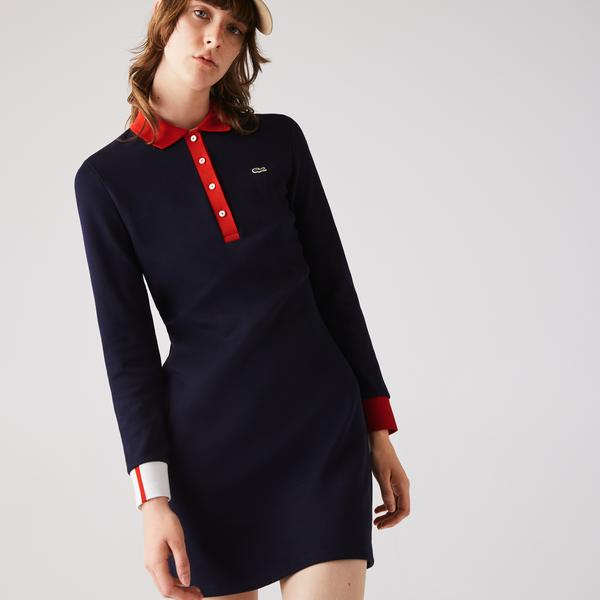 Lacoste Women's Made In France Stretch Cotton Jersey Polo Dress