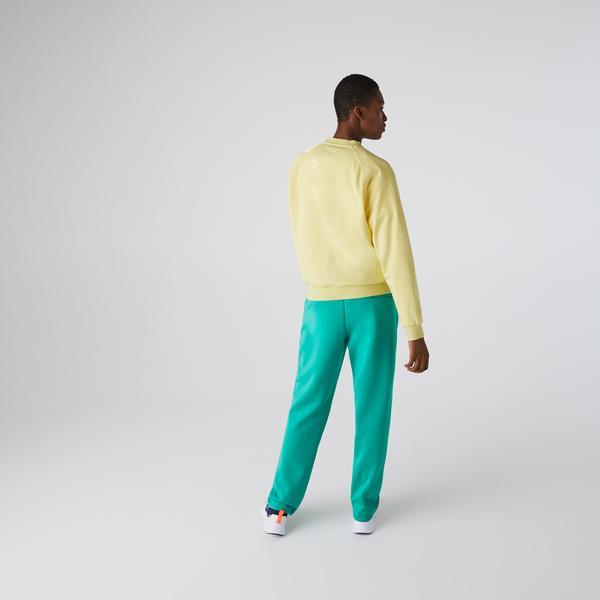 Lacoste Women's Crew Neck Cotton Fleece Blend Sweatshirt