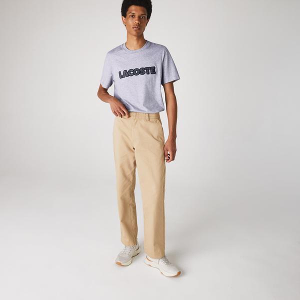 Lacoste Men's Badge Crew Neck Thick Cotton T-shirt