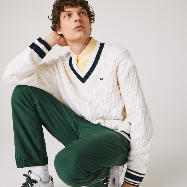 Lacoste Unisex LIVE Wool Blend V-neck Sweater
