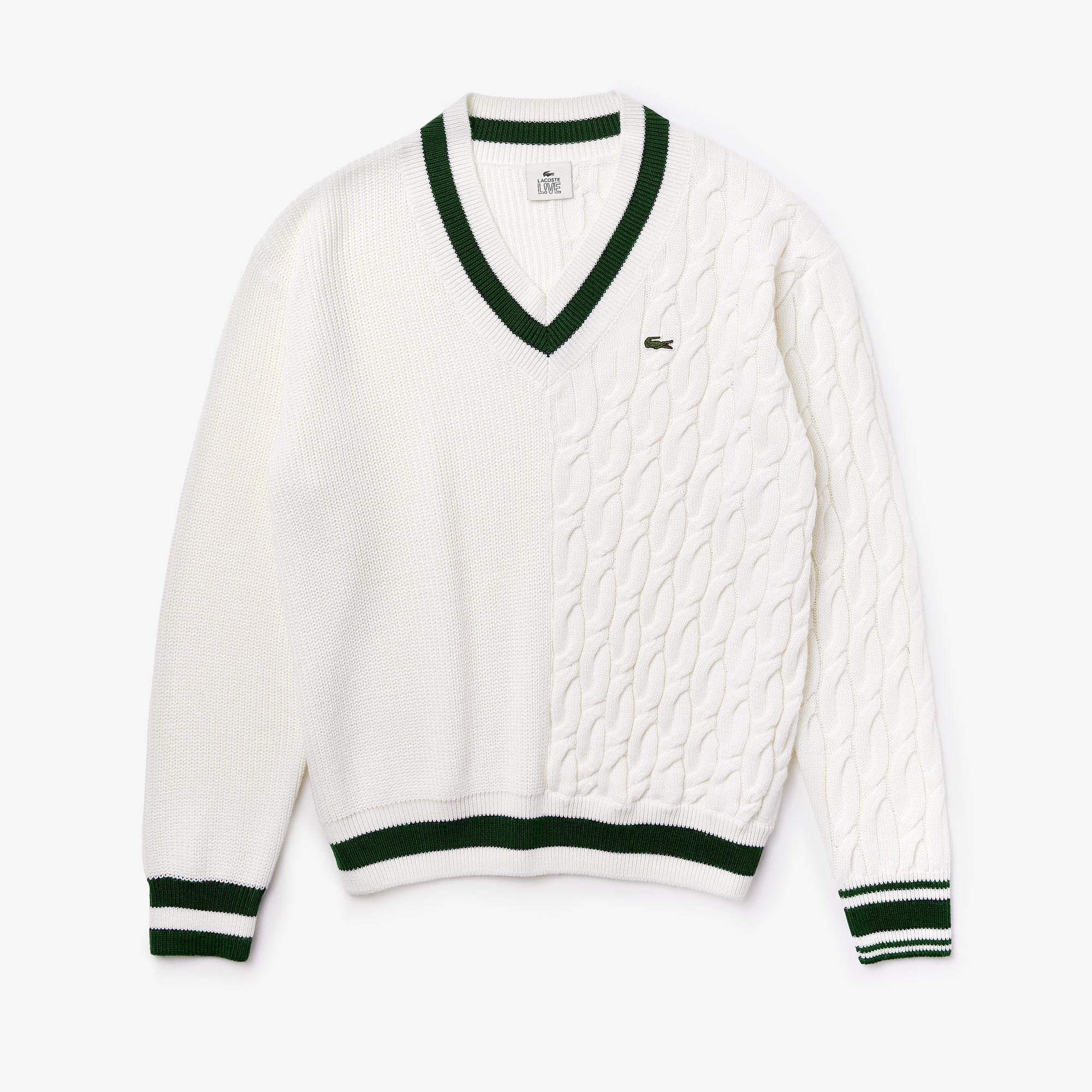 Lacoste светр унісекс LIVE з V-вирізом