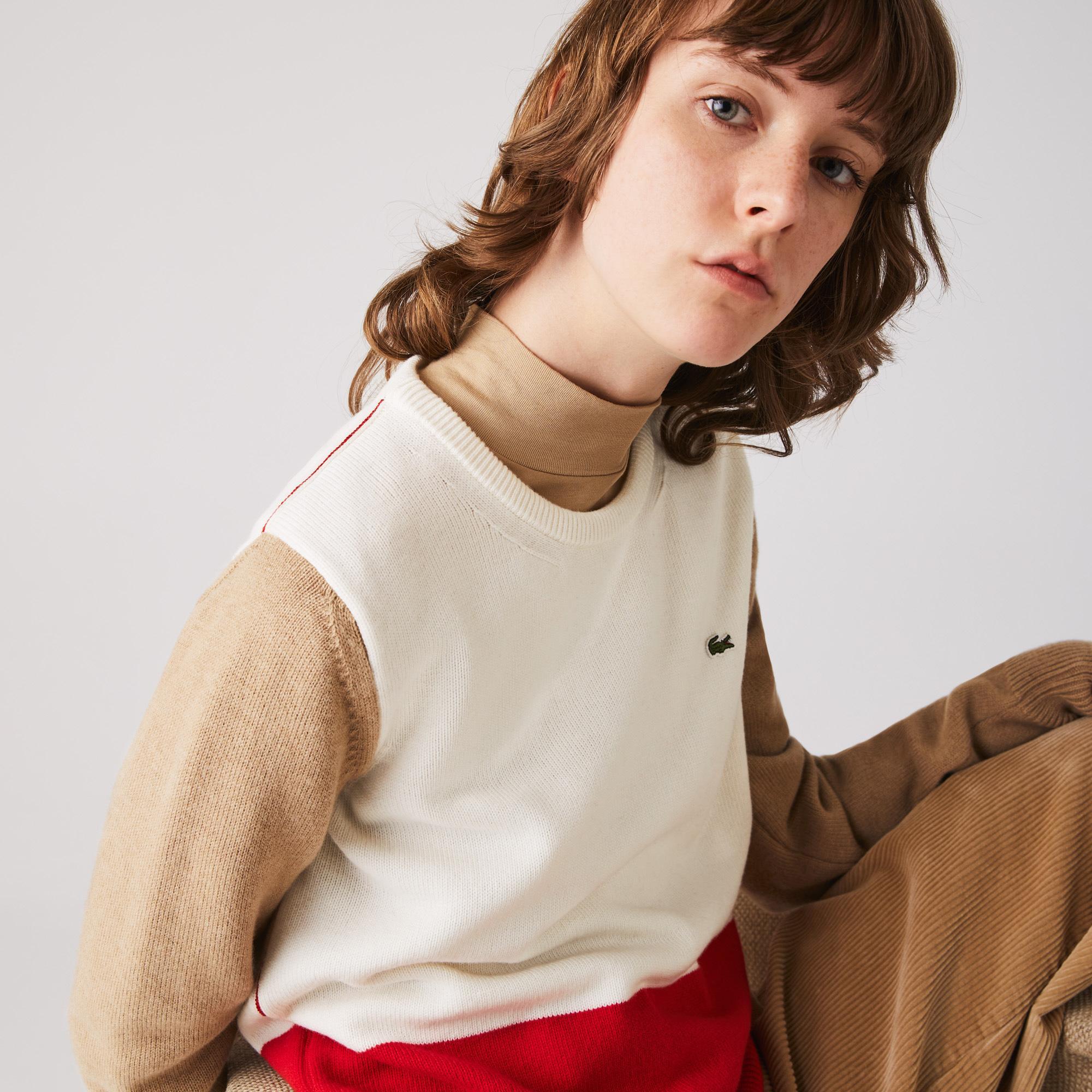 Lacoste светр жіночий Made in France з круглим вирізом