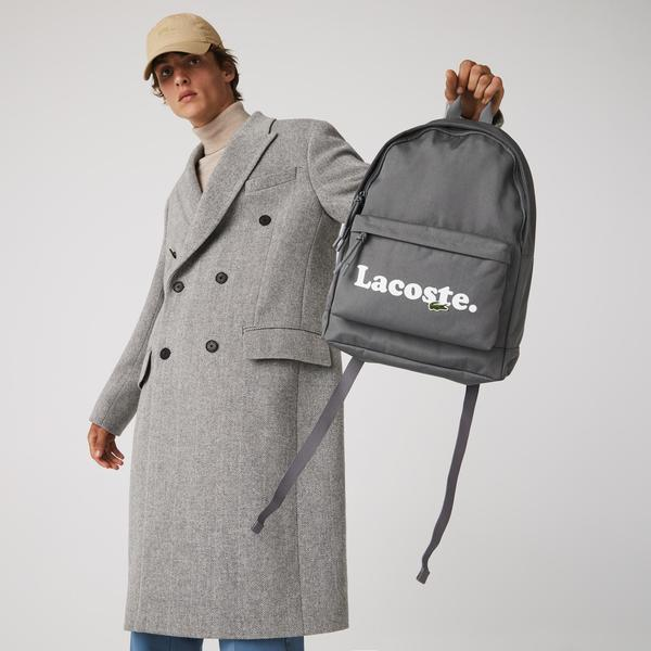 Lacoste Men's Neocroc Branded Canvas Backpack