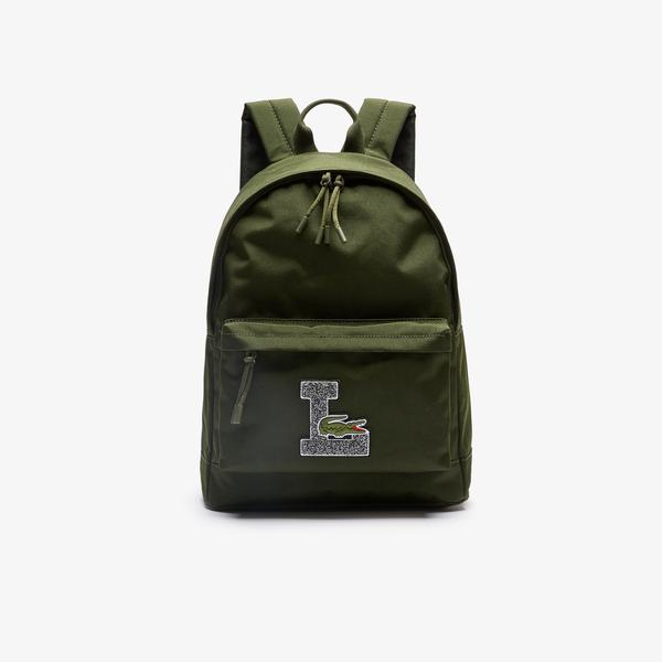 Lacoste Men's Neocroc L Patch Canvas Backpack