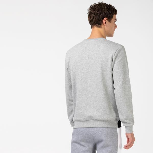 Lacoste Men's SPORT Crew Neck Colorblock Fleece Sweatshirt