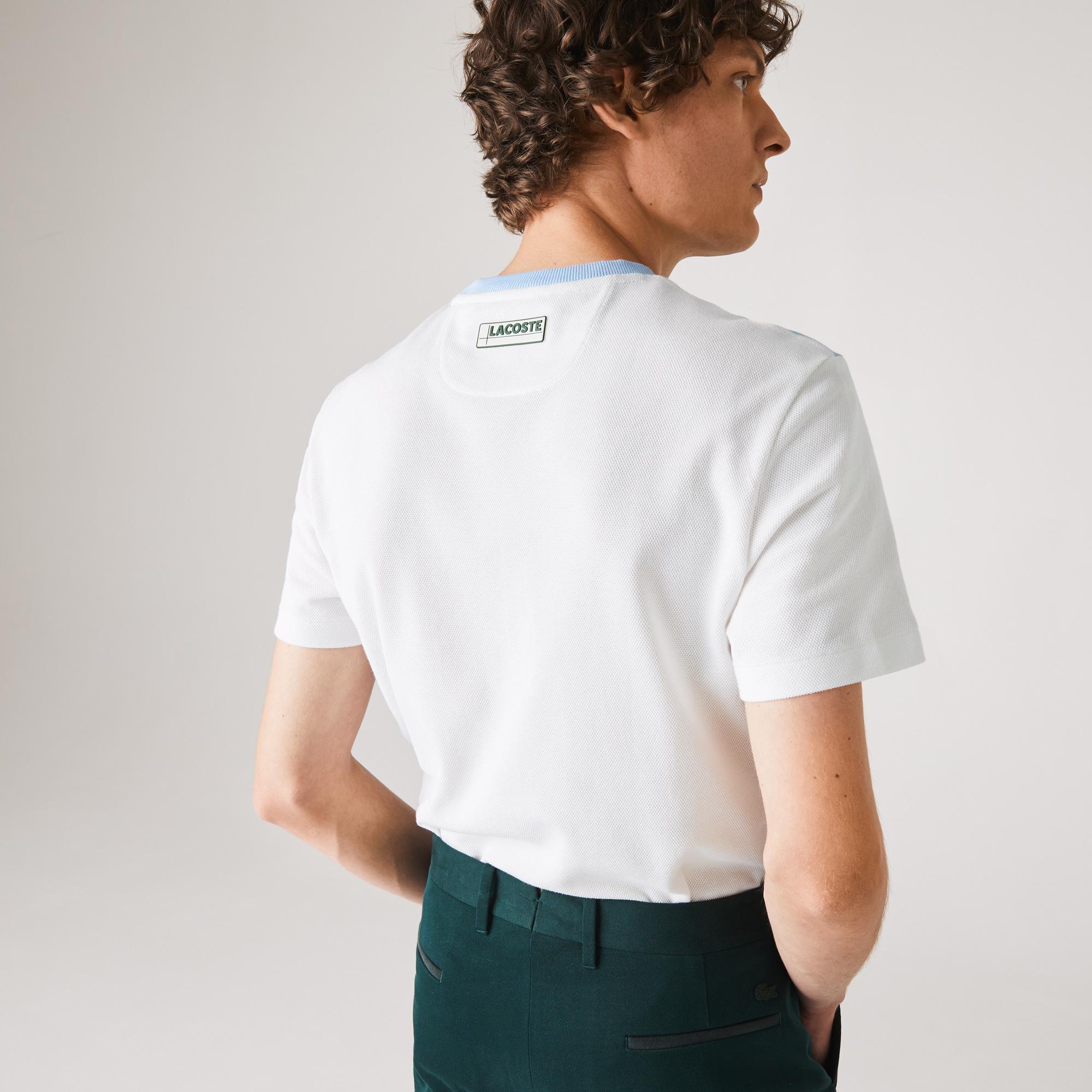 Lacoste футболка чоловіча Colorblock з круглим вирізом