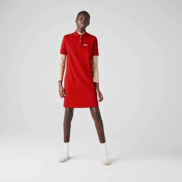 Lacoste Women's x National Geographic Cotton Piqué Polo Shirt Dress