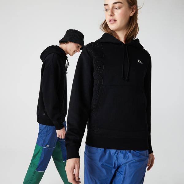 Lacoste Unisex LIVE Hooded Embroidered Cotton Blend Sweatshirt