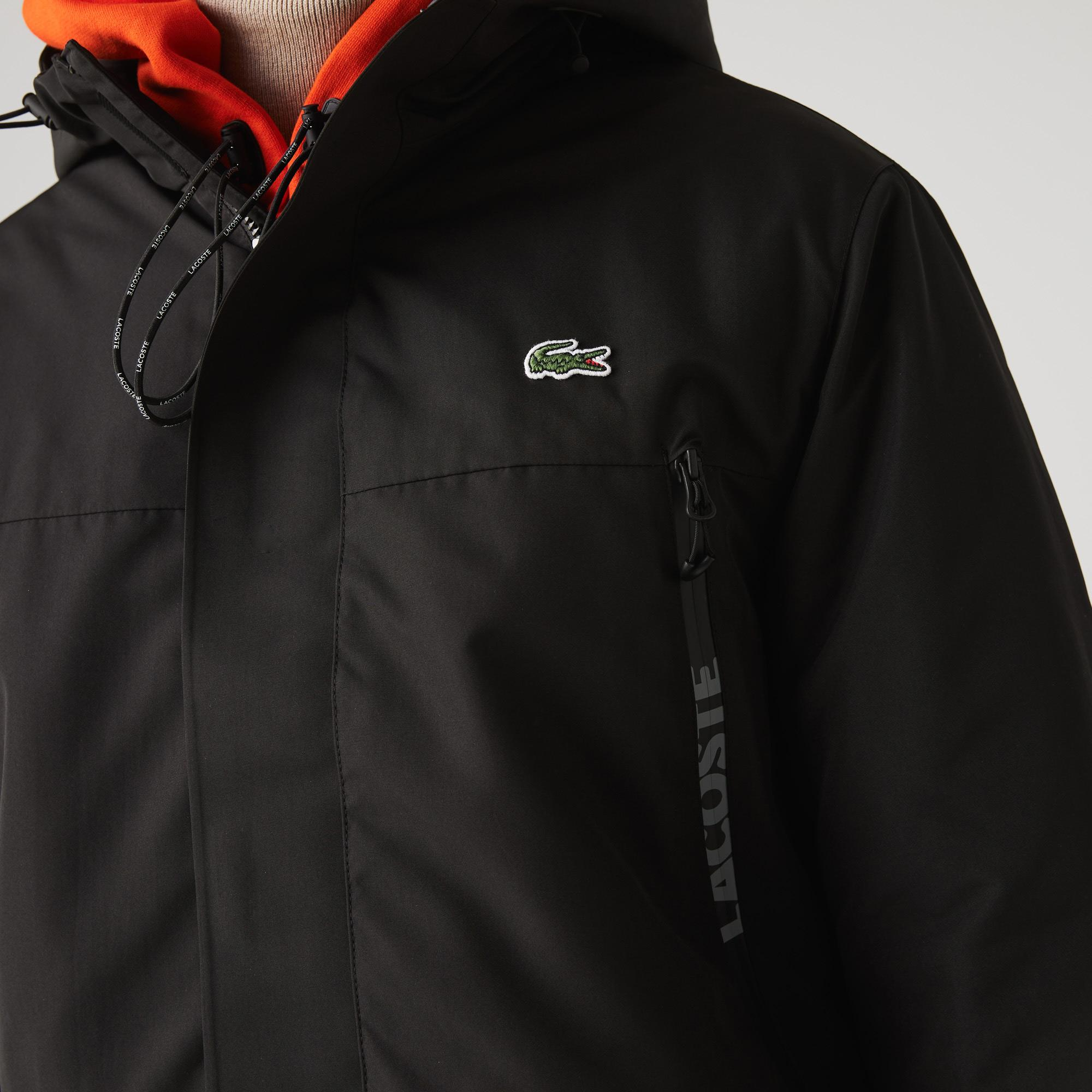 Lacoste Men's SPORT Hooded Quilted Parka