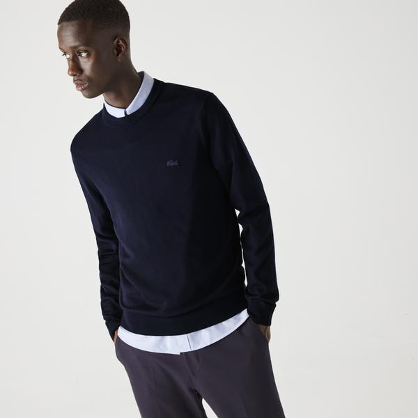 Lacoste Men's Crew Neck Merino Wool Sweater