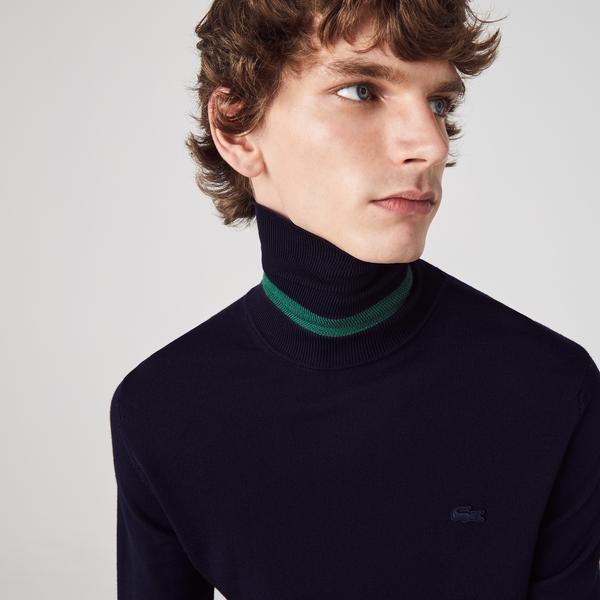 Lacoste Men's Turtleneck Merino Wool Sweater