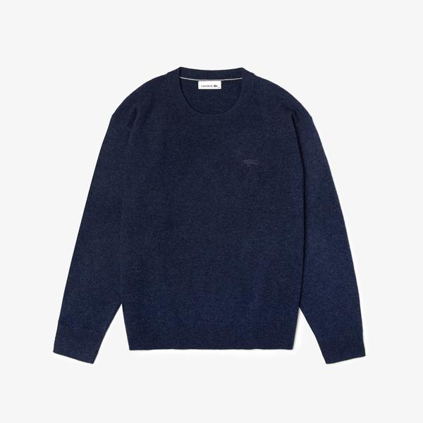 Lacoste Women's Crew Neck Wool Sweater
