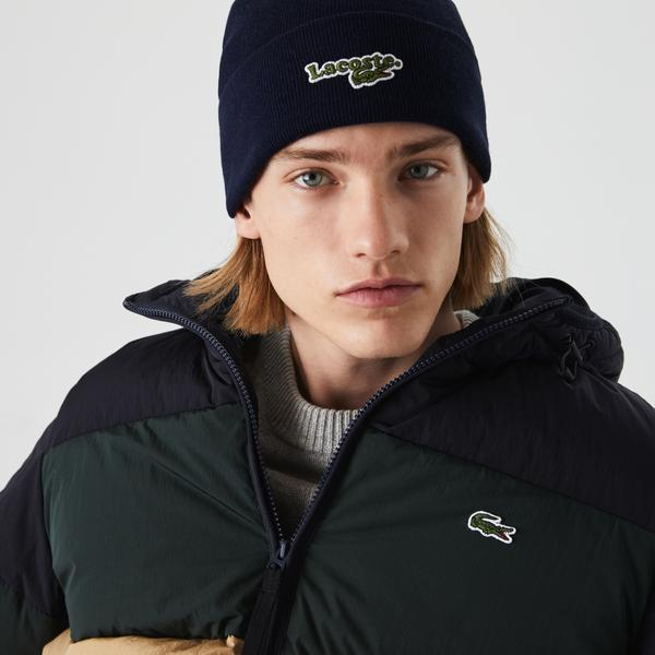 Lacoste Men's Ribbed Cotton Beanie