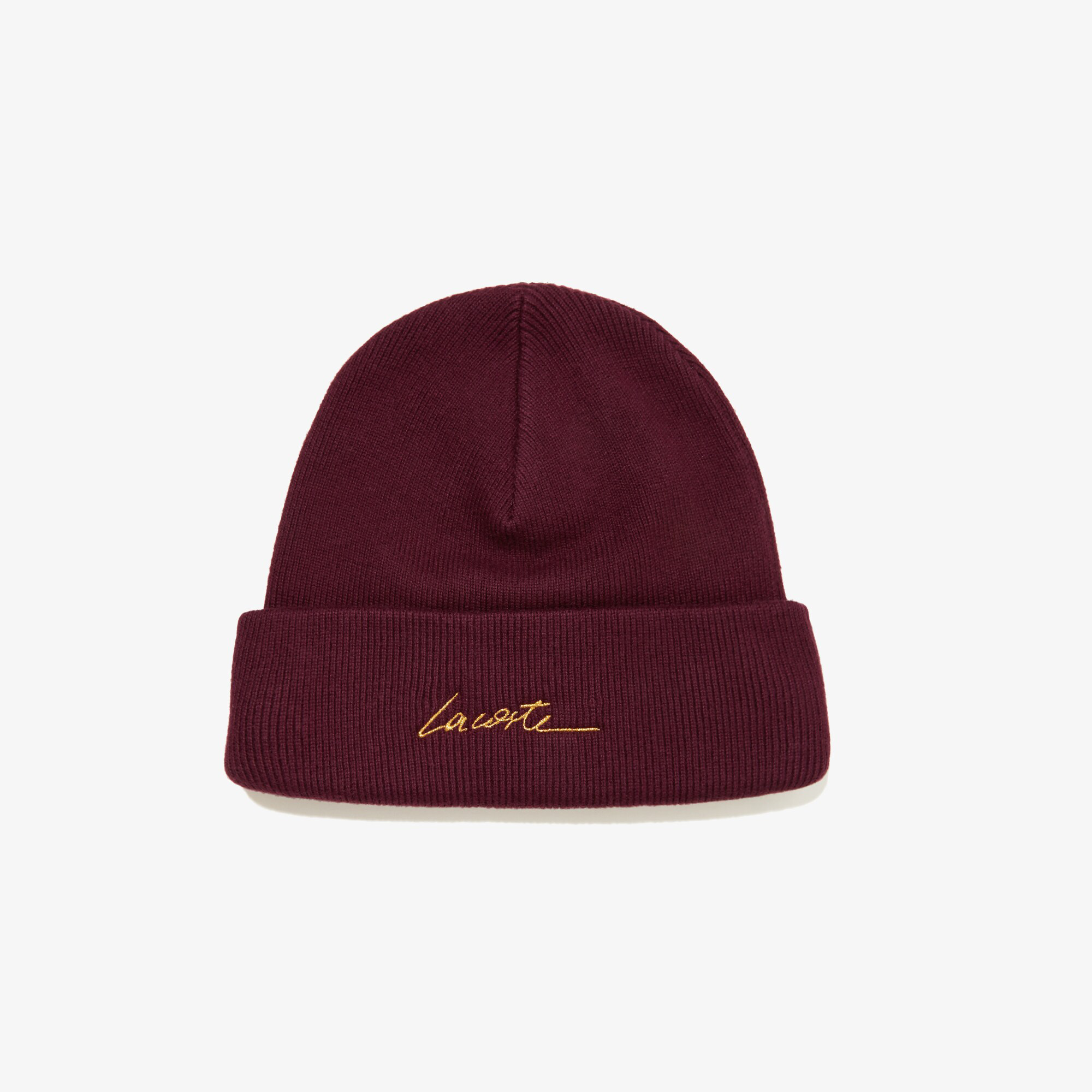 Lacoste L!VE Unisex Signature Embroidered Cashmere And Cotton Beanie