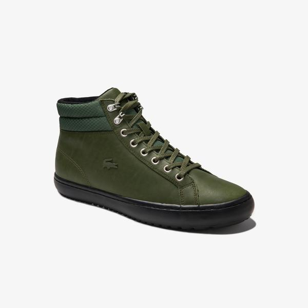 Lacoste Men's Straightset Thermo Leather Chukkas