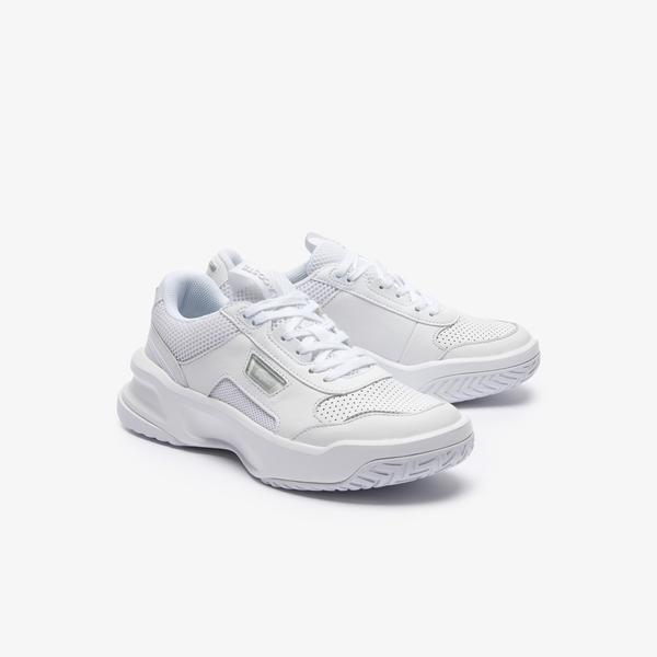 Lacoste Women's Ace Lift Tonal Leather and Textile Sneakers