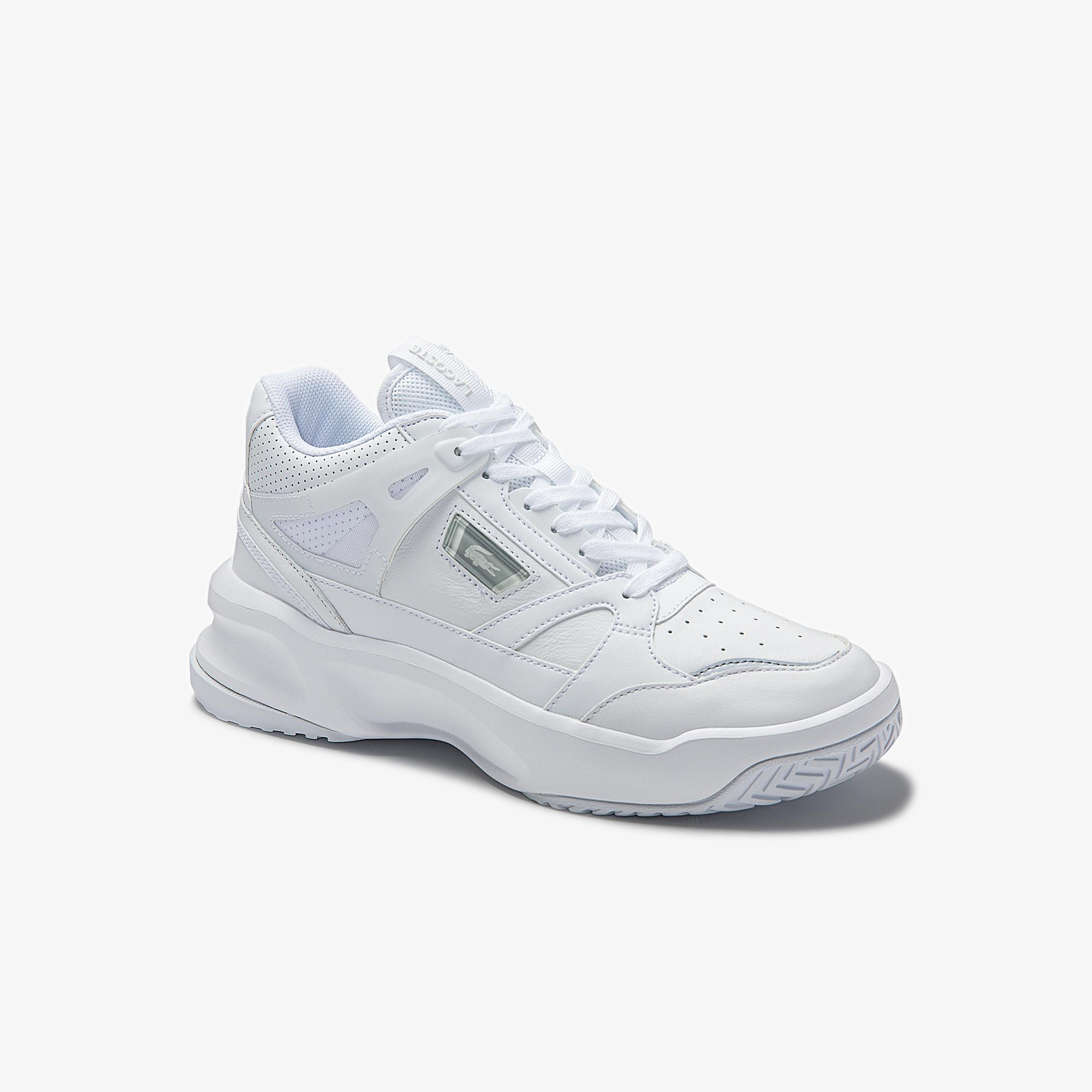 Lacoste Women's Ace Lift Mid Leather and Synthetic Sneakers