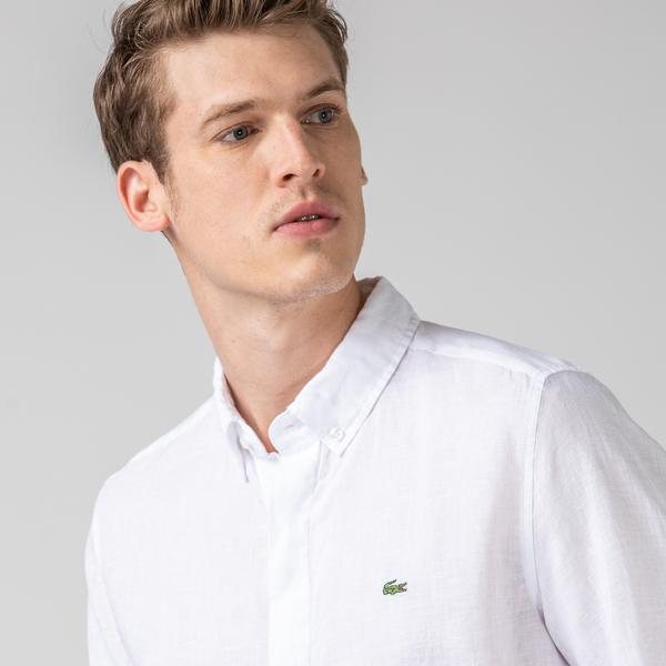 Lacoste Men's Regular Fit Button-Down Collar Shirt