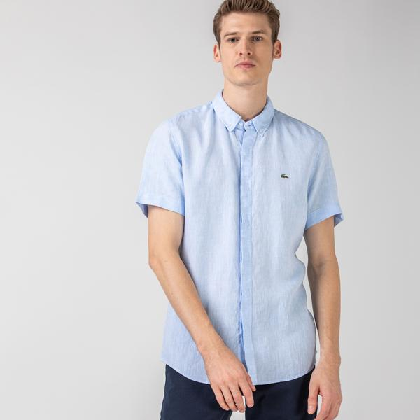 Lacoste Men's Regular Fit Button-Down Collar Short Sleeve Shirt