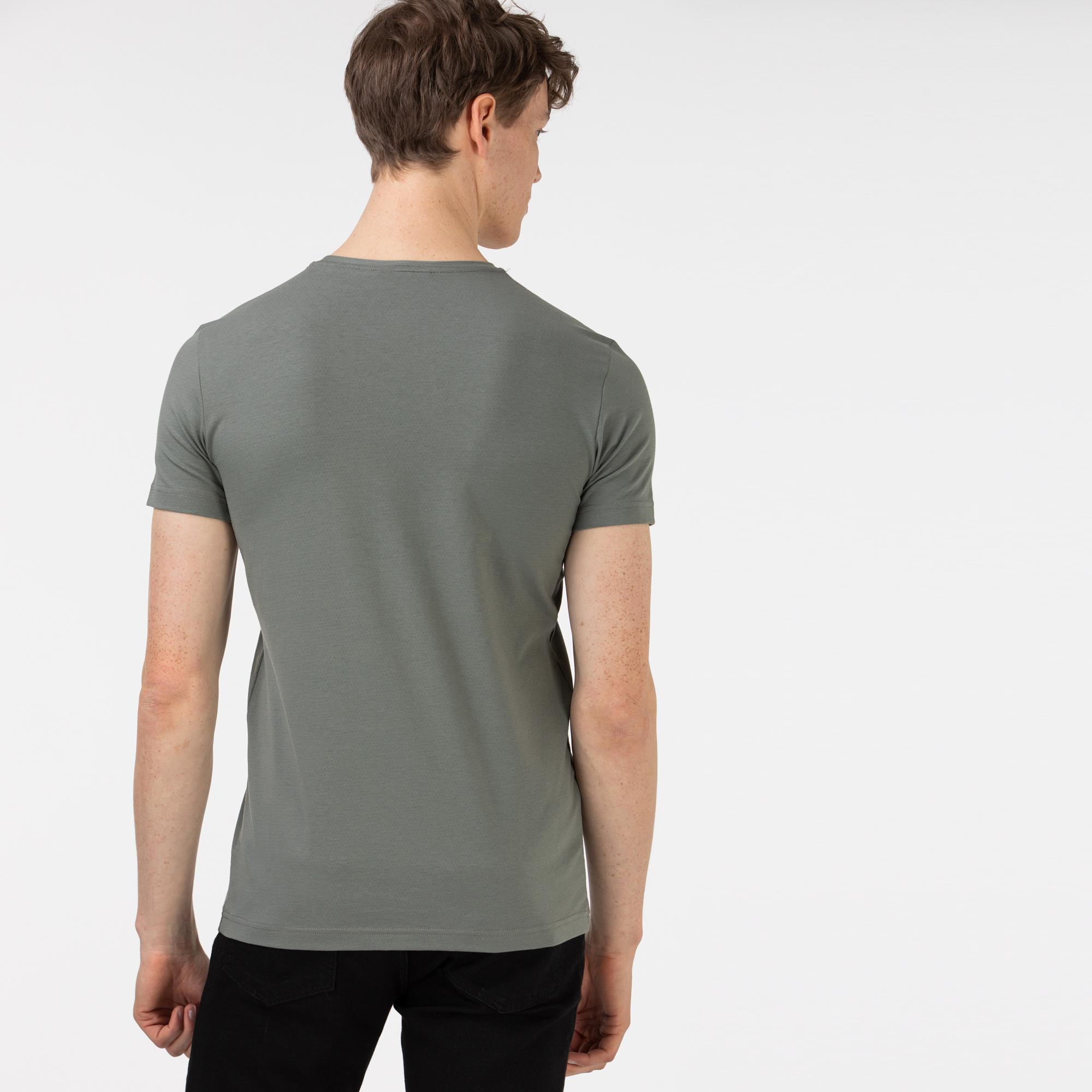 Lacoste Men's Round Neck Patterned T-Shirt