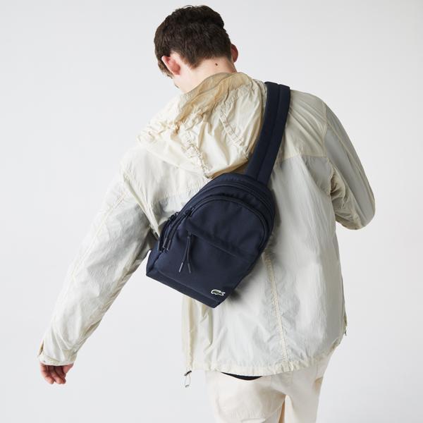 Lacoste Men's Neocroc Canvas Crossbody Bag