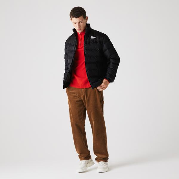 Lacoste Men's SPORT Two-Tone Water-Resistant Quilted Jacket