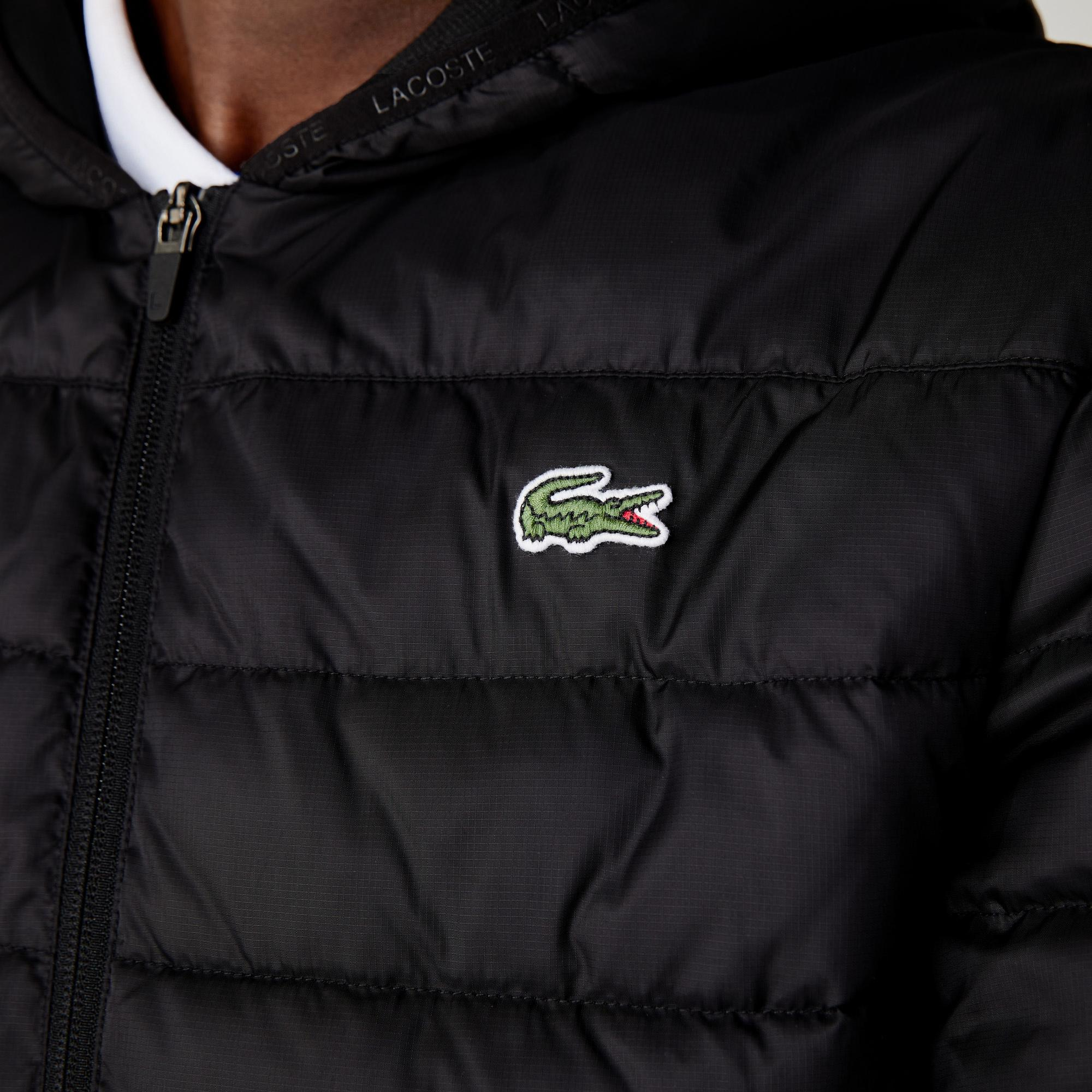 Lacoste Men's SPORT Hooded Water-Resistant Quilted Jacket