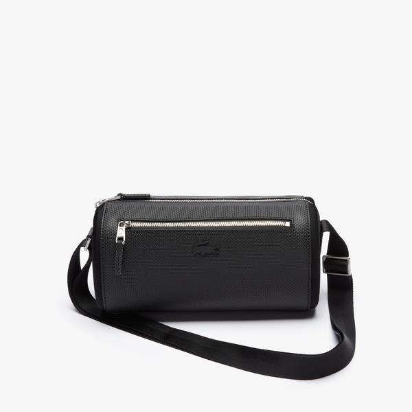 Lacoste Men's Chantaco Matte Stitched Leather Boston Bag