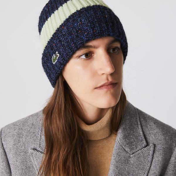 Lacoste Women's Colorblock Mixed Wool Beanie
