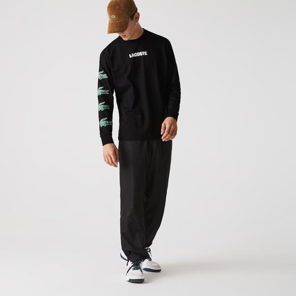 Lacoste Men's SPORT Crocodile Print Cotton Jersey T-shirt